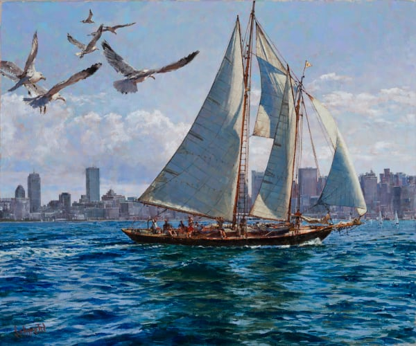 Boston Harbor Jaunt Art for Sale