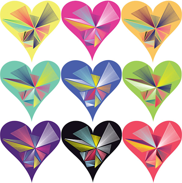 women's day, hearts, vortex, spectrum, rainbow