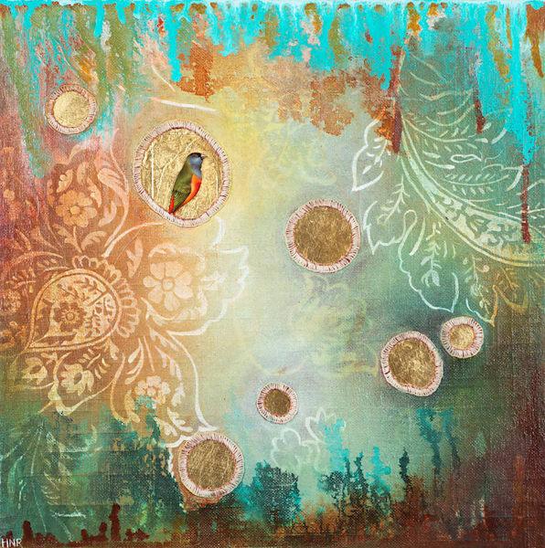 Nonpareil Grass Finch, an original art painting by Heather Robinson