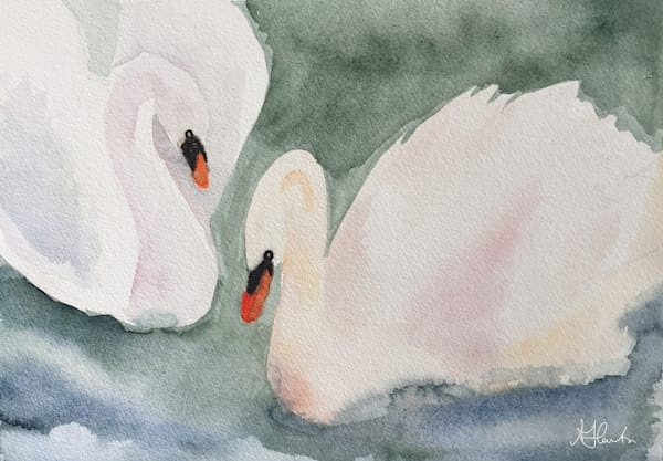 """Royal Swans"" by Jill Lawton 