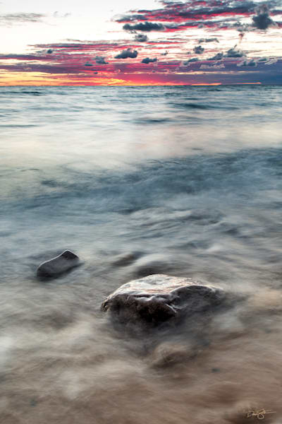 Waves At Sunset Photography Art | Drew Smith Photography, LLC