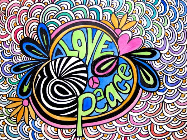 Rainbow Love And Peace Art For Sale