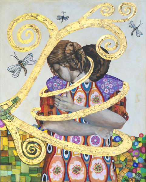 Designs by Teri | Teri Vereb Fine Art Paintings | Embracing Love Three | Klimt