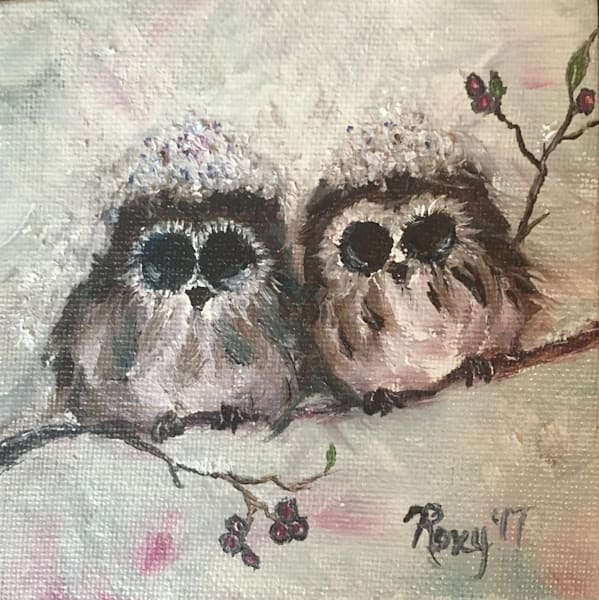 Mini snowy owls