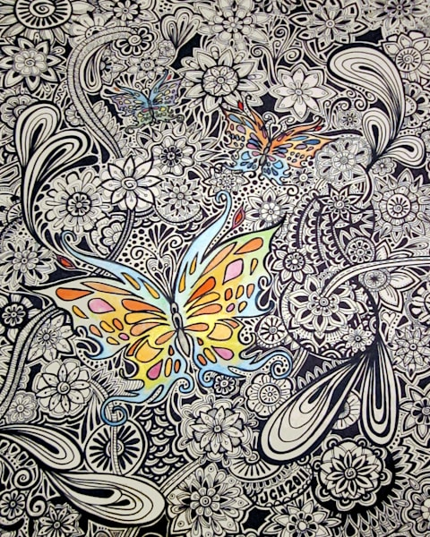 Black And White Butterflies Art For Sale