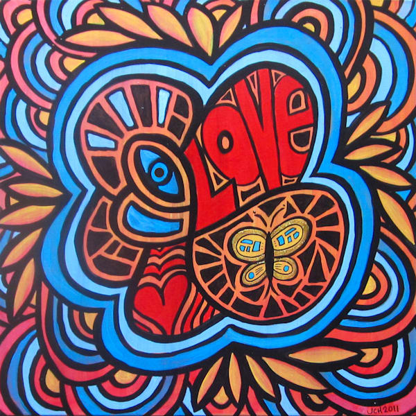 Hippie Love Art For Sale