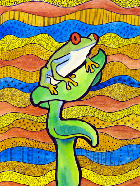 Funky Frog Animal Art For Sale