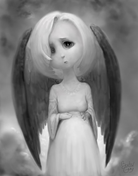 "Burton Gray's ""Sad Angel.' 2017"