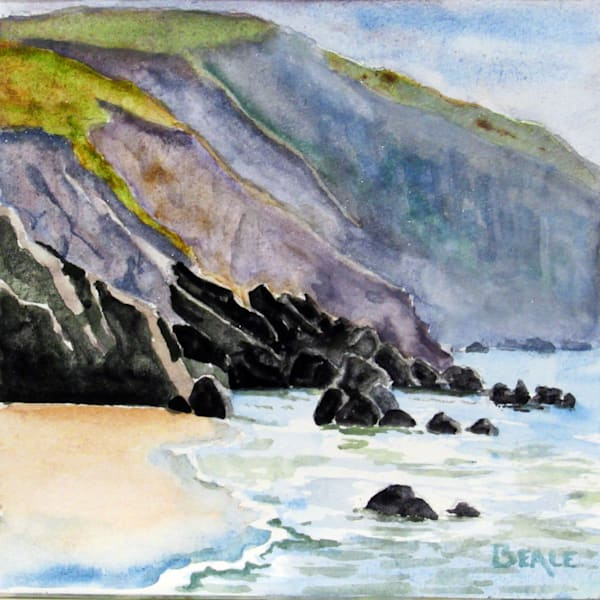 Beach Below Minard Castle Art | David Beale