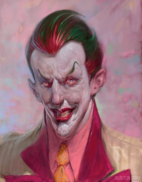 Model Joker Art | Burton Gray