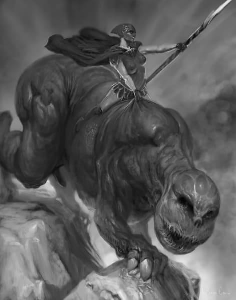Ride The Monster Art | Burton Gray
