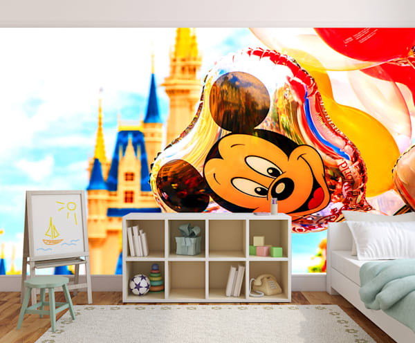 Mickey Mouse Balloon - Disney Wallpaper Murals | William Drew