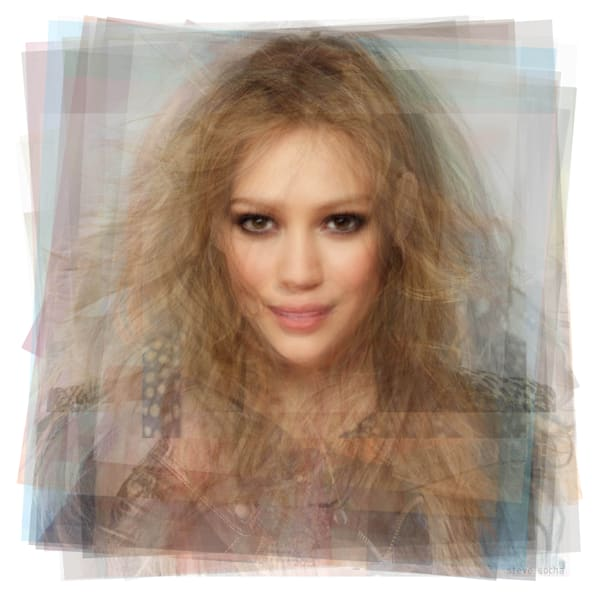 Overlay art – contemporary fine art prints for sale of Hilary Duff