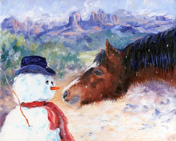 Snowman and Horse
