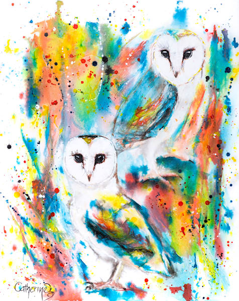 Ink Series -Owls I - Original