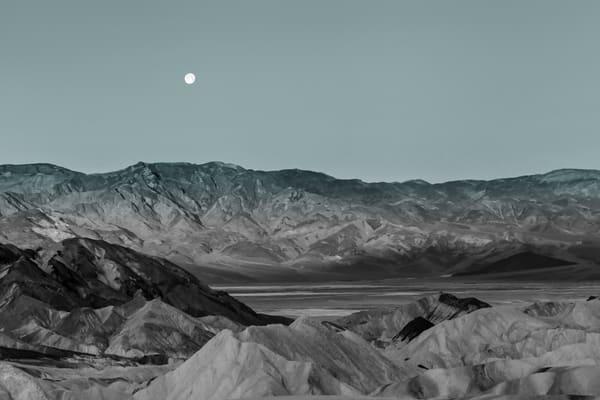 Moon Set in Monotone