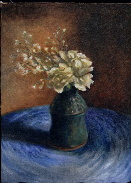 Still Life with Carnations and Baby's Breath