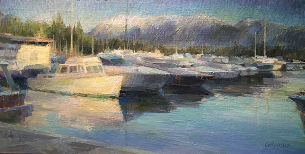 Winter Scene with Boats, Vancouver BC