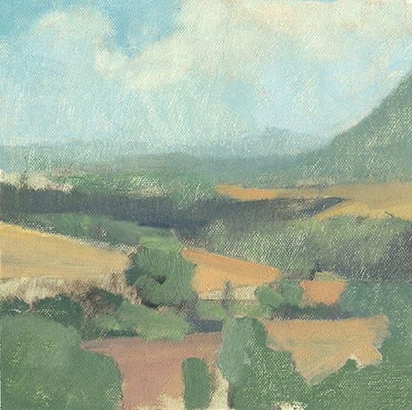 Summer Rains, Civita Castellana | Original Oil Painting by Antrese Wood