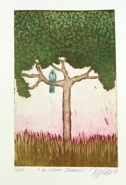 A New Dawn   Aquatint Etching Art | mariannjohansen-ellis