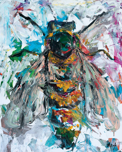 Queen A, Bee Painting