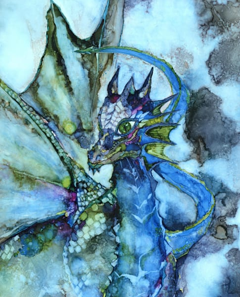 Dragon art, Fine art prints by Heidi Stavinga, alcohol ink art
