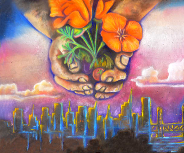 Flowers over City-Anias Logan