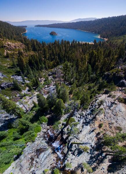 Eagle Falls Vertical Panorama