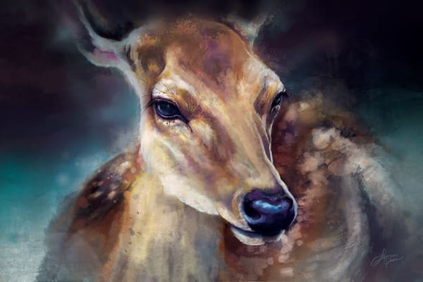 Deer In The Mist - Fine Art Print