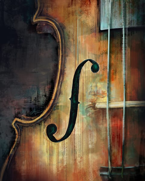 Vintage Violin Fiddle Colour