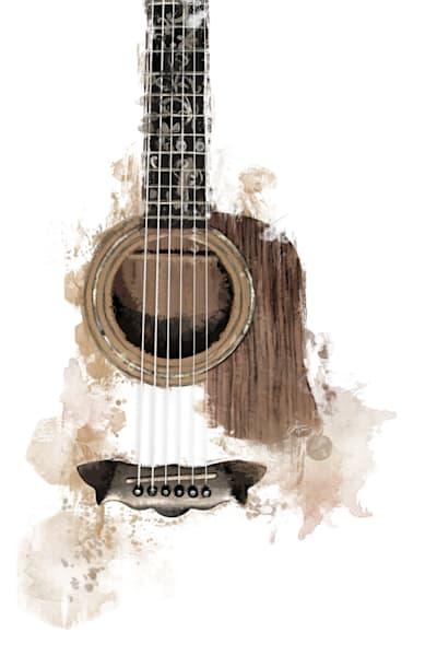 Acoustic Guitar - Music Art Print Style 1