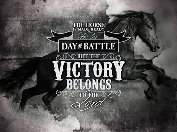 The Victory Belongs to The Lord - Scripture Verse Art Print