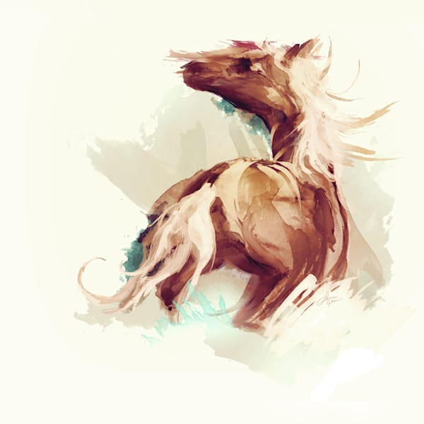 Splasher Watercolour Horse Art