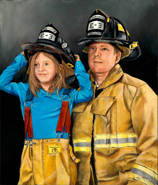 fine art print fireman