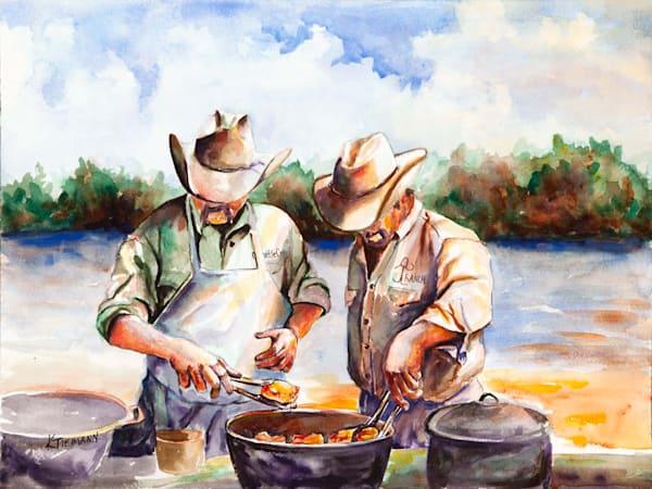 Cowboy art, original paintings and fine art prints by Texas artist and oil painter Creative Kina Tiemann