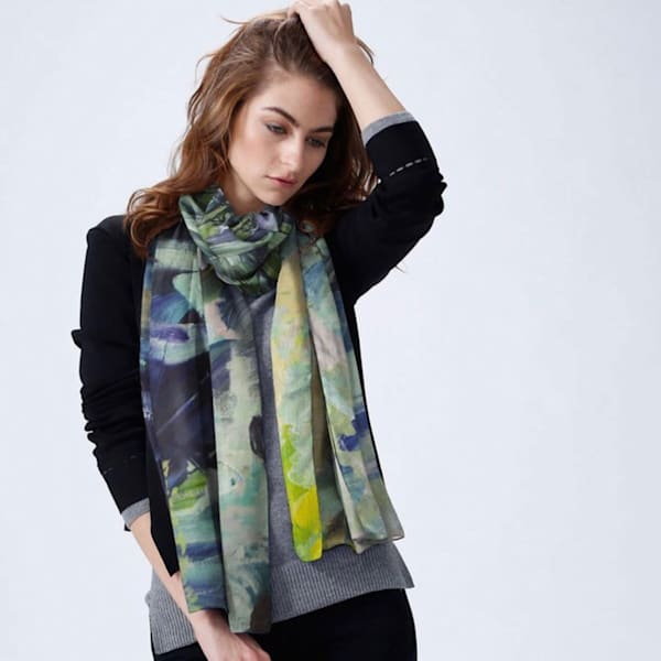 Clarks Fork Canyon Wyoming Modal Scarf
