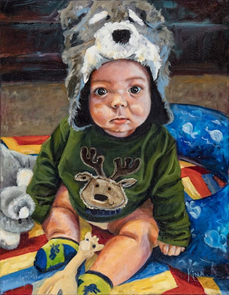 fine art baby portrait