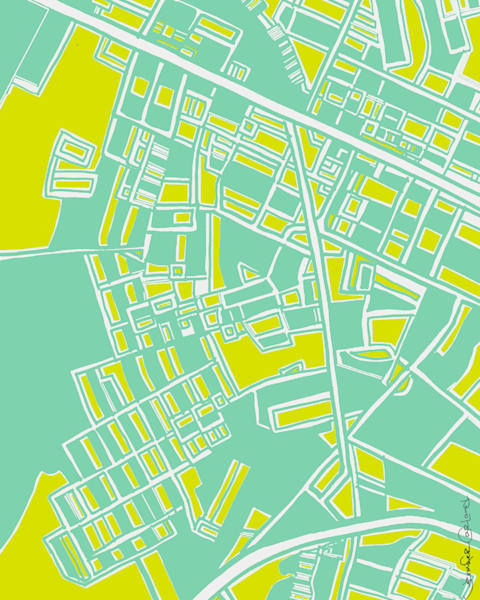 Regent Square Abstract Map Art For Sale