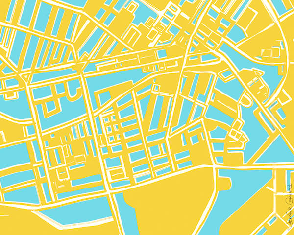 Shadyside Neighborhood Map Art For Sale | Purchase Art Prints of Pittsburgh Neighborhoods