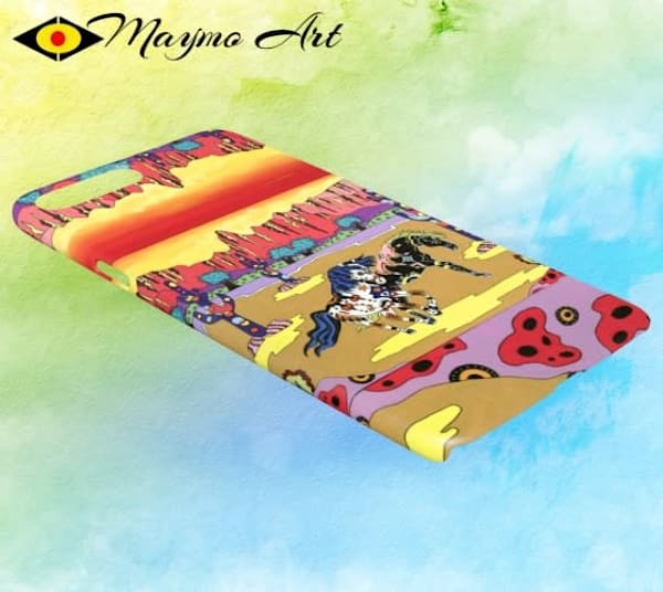 Playful Horses I Phone 7/8 Plus Phone Cover by Maymo Art