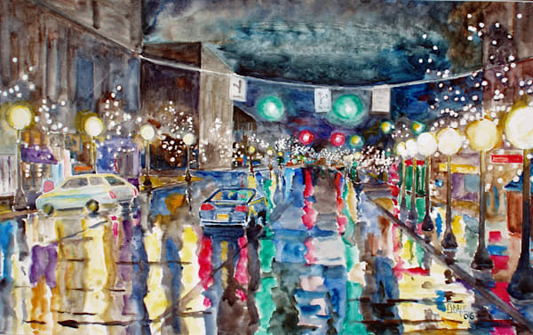 Midnight On Main St, Cortland Art | David Beale