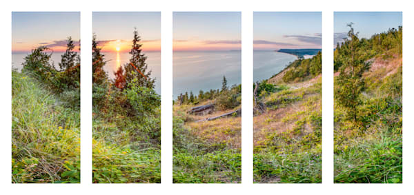 Empire Bluffs Sunset Pentaptych