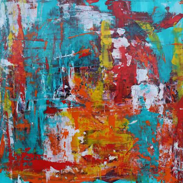 Put this energizing original abstract art by Lesley Koenig on your walls.