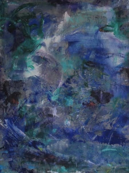 Blue sea themed abstract