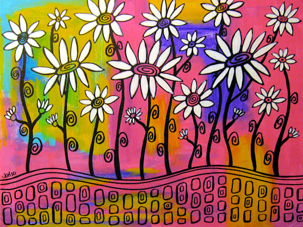 Field Of Daisies Art For Sale