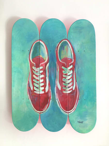 Urban Rebel Original Painting on Skate Decks by Steph Fonteyn