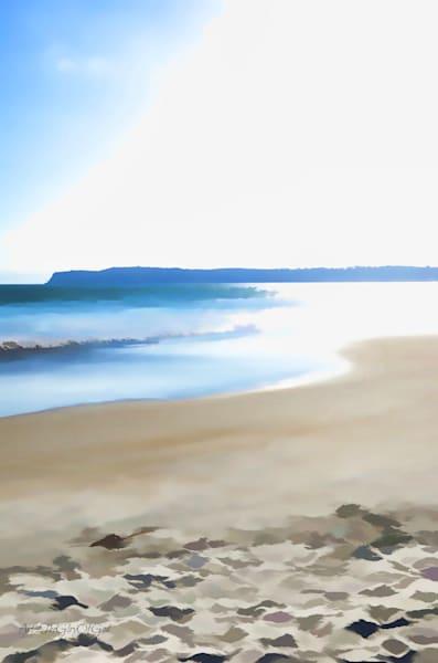 """Jesus stood on the shore""  - digital painting photograph"