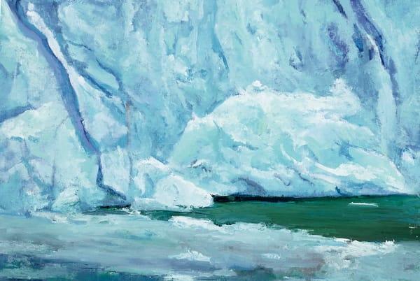 Ice Flow, Perito Moreno | Glacier Art Print by Antrese Wood