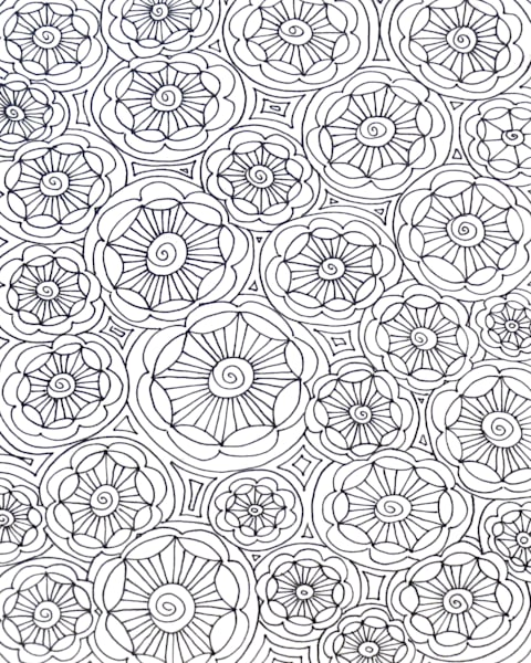 Flower Circles Color It Art For Sale