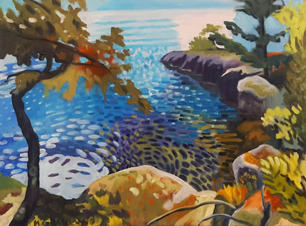 Gull Island Cove oil painting by Mark Granlund